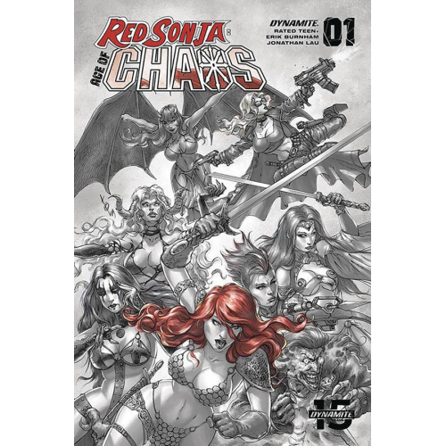 RED SONJA AGE OF CHAOS 1 40 COPY QUAH HELL RED INCV (VO)