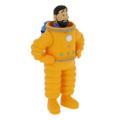 Moulinsart Figurine de Collection Tintin Haddock en Cosmonaute 8cm