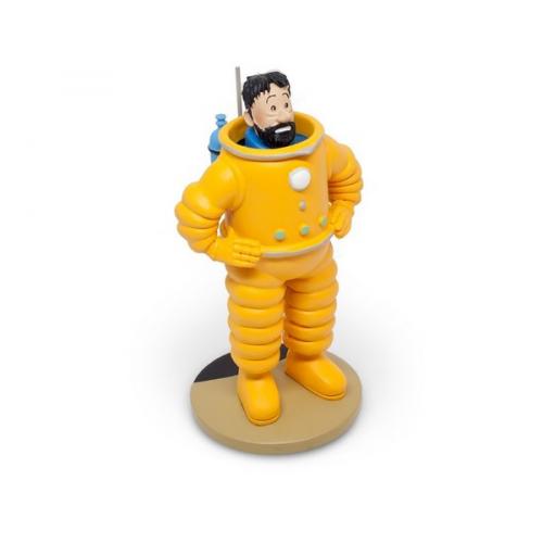 Figurine de Collection Tintin Haddock en Cosmonaute 15cm