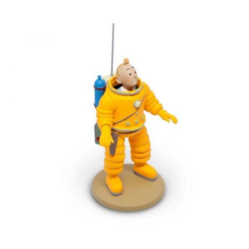 Figurine de Collection Tintin en Cosmonaute 15cm