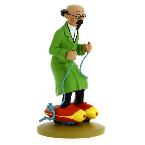 Moulinsart Figurine de Collection Tintin Tournesol Patins à Moteur