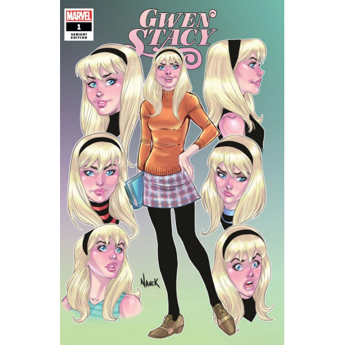 GWEN STACY 1 (OF 5) NAUCK FACES OF GWEN VAR (VO)
