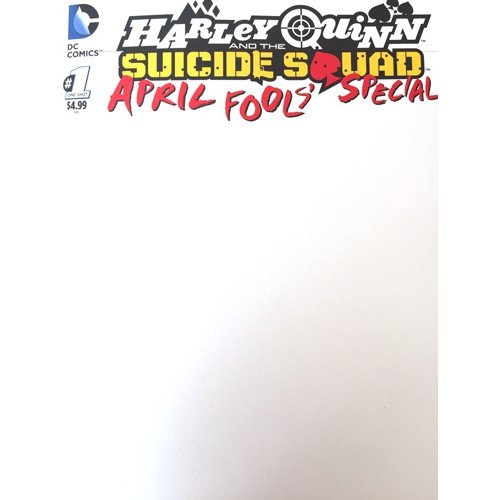 Harley Quinn & the Suicide Squad April Fool's Special 1 BLANK COVER (VO) JIM LEE