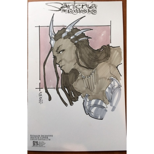 Santeria : The Goddess Kiss 1 Retailer Inventice Sketch Variant Cover