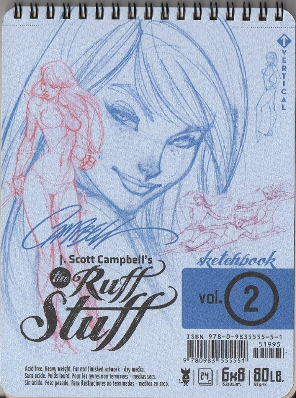 J.Scott Campbell's Ruff Stuff Sketchbook 2 (signé)