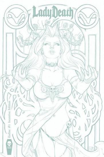 Lady Death : Zodiac 1 Inventive Cover (VO) Nei Ruffino