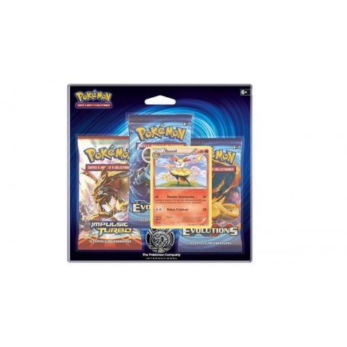 Pack 3 Booster Pokemon XY Evolutions + 1 carte cadeau