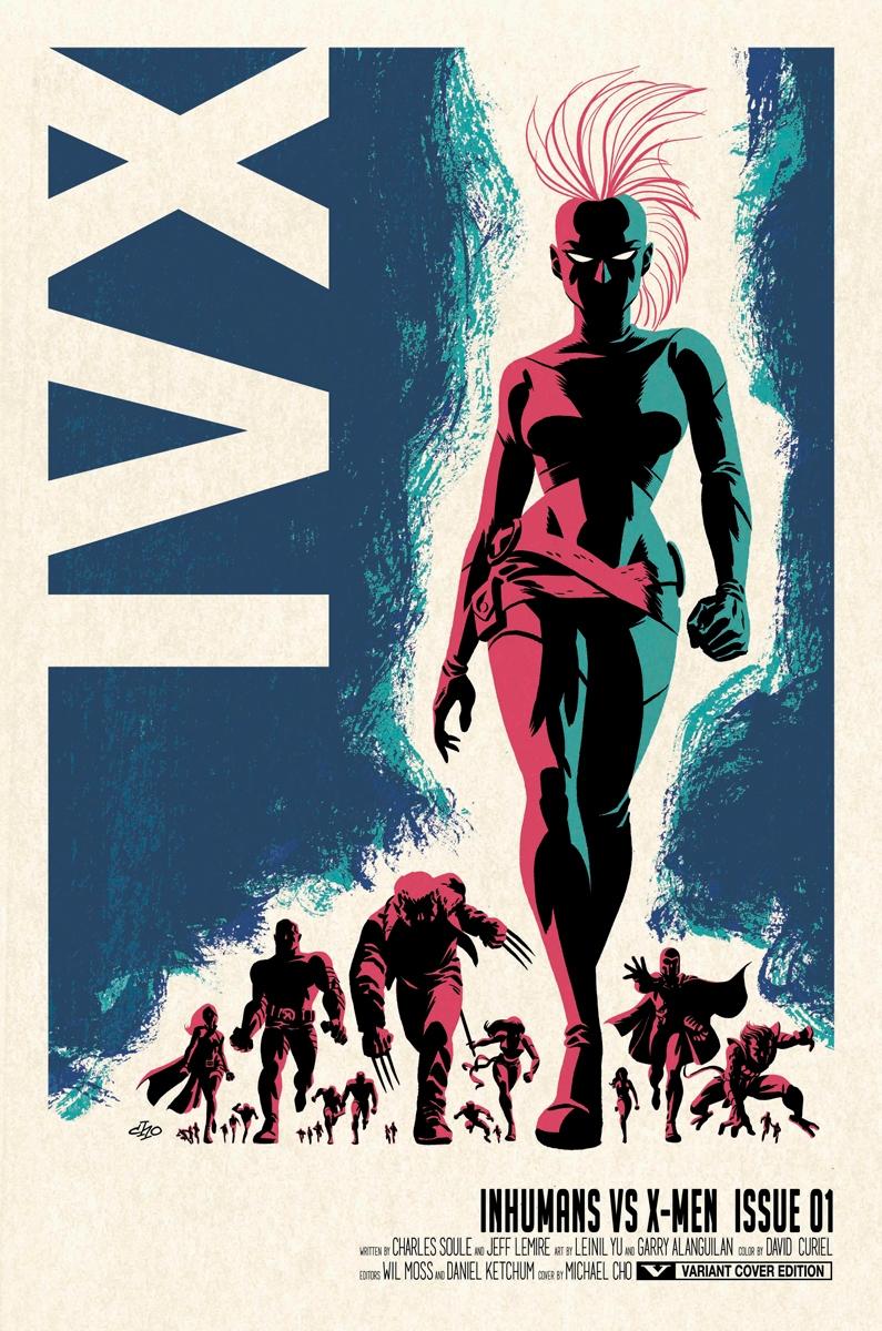 Inhumans vs X-Men n°1 Edition collector + Boîte métal (VF)