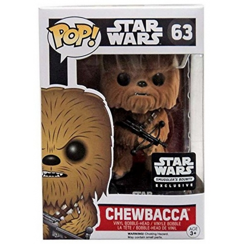 Funko Pop Star Wars Flocked Chewbacca Smuggler's Bounty Exclusive