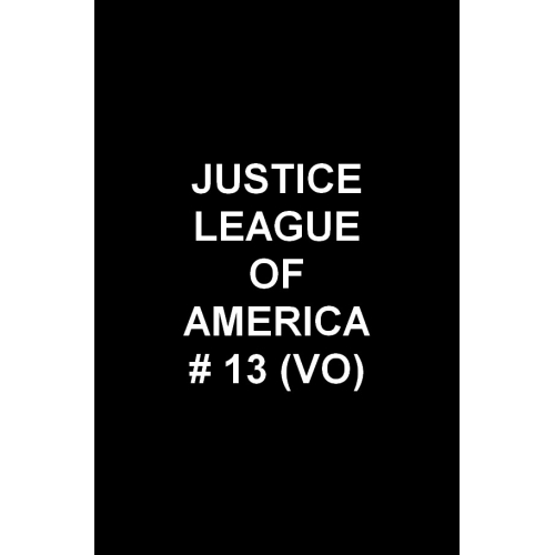 Justice League Of America 13 (VO)