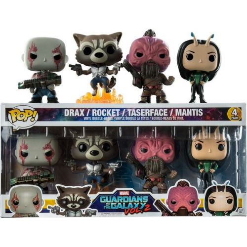 Funkpo Pop GOTG VOL 2 Pack Drax Mantis Rocket Taserface