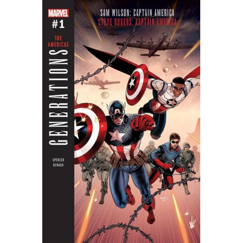 Generations : Sam Wilson Captain America & Steve Rogers Captain America 1 (VO)