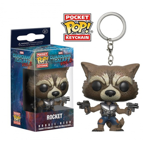Funko Pocket Pop Keychain Marvel Les Gardiens de la Galaxie vol.2 - Bobble-Head Rocket